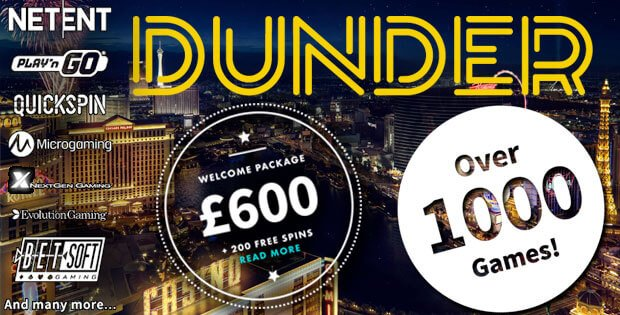 dunder casino free spins